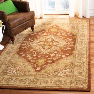 Safavieh Handmade Heritage Timeless Traditional Rust/ Gold Wool Rug (5' x 8')