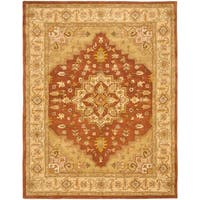 Safavieh Handmade Heritage Timeless Traditional Rust/ Gold Wool Rug (7'6 x 9'6) - 7'6 x 9'6