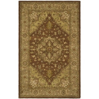 Safavieh Handmade Heritage Timeless Traditional Rust/ Gold Wool Rug (8'3 x 11')