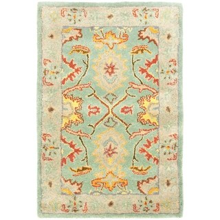 Safavieh Handmade Heritage Timeless Traditional Light Blue/ Ivory Wool Rug (2' x 3')