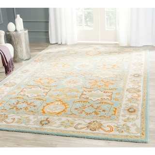 Safavieh Handmade Heritage Timeless Traditional Light Blue/ Ivory Wool Rug (4' x 6')