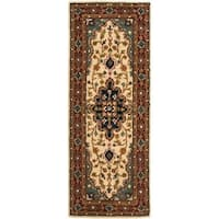 Safavieh Handmade Heritage Traditional Tabriz Ivory/ Red Wool Runner Rug - 2'3 x 6'