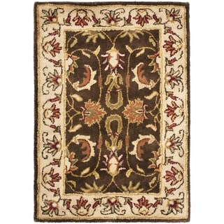 Safavieh Handmade Heritage Timeless Traditional Brown/ Beige Wool Rug (2' x 3')