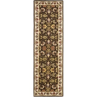 Safavieh Handmade Heritage Timeless Traditional Brown/ Beige Wool Runner (2'3 x 8')