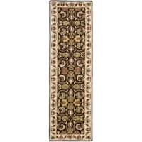 Safavieh Handmade Heritage Timeless Traditional Brown/ Beige Wool Runner Rug - 2'3 x 8'