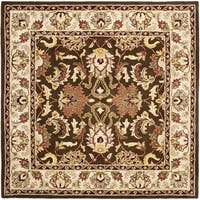 Safavieh Handmade Heritage Timeless Traditional Brown/ Beige Wool Rug - 6' x 6' Square
