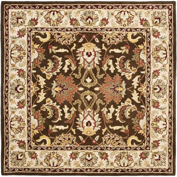 Safavieh Handmade Heritage Timeless Traditional Brown/ Beige Wool Rug - 6' x 6' Square