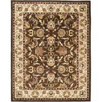 Safavieh Handmade Heritage Timeless Traditional Brown/ Beige Wool Rug - 4' x 6'
