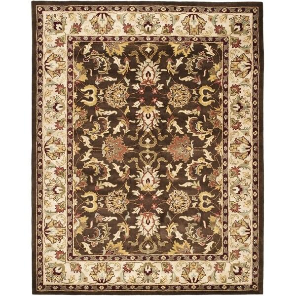 Safavieh Handmade Heritage Timeless Traditional Brown/ Beige Wool Rug (4' x 6')