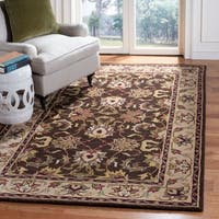 Safavieh Handmade Heritage Timeless Traditional Brown/ Beige Wool Rug - 4' x 6'