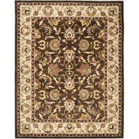 Safavieh Handmade Heritage Timeless Traditional Brown/ Beige Wool Rug - 5' x 8'