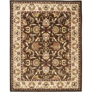 Safavieh Handmade Heritage Timeless Traditional Brown Beige Wool Rug 5 X 8