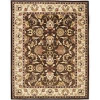 Safavieh Handmade Heritage Timeless Traditional Brown/ Beige Wool Rug (7'6 x 9'6)