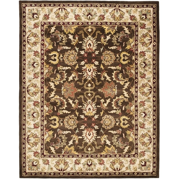 Safavieh Handmade Heritage Timeless Traditional Brown/ Beige Wool Rug (7'6 x 9'6)