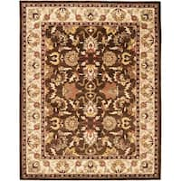 "Safavieh Handmade Heritage Timeless Traditional Brown/ Beige Wool Rug - 7'-6"" x 9'-6"""