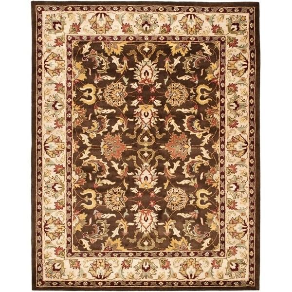 """Safavieh Handmade Heritage Timeless Traditional Brown/ Beige Wool Rug - 7'6"""" x 9'6"""""""