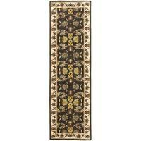 "Safavieh Handmade Heritage Timeless Traditional Black/ Ivory Wool Runner Rug - 2'3"" x 8'"