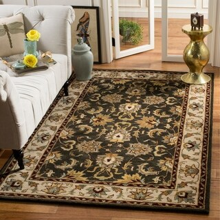 Safavieh Handmade Heritage Timeless Traditional Black/ Ivory Wool Rug (4' x 6')