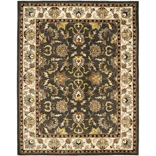 Safavieh Handmade Heritage Timeless Traditional Black/ Ivory Wool Rug (5' x 8')