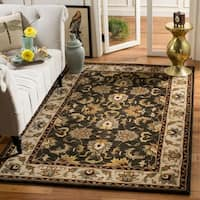 "Safavieh Handmade Heritage Timeless Traditional Black/ Ivory Wool Rug - 7'6"" x 9'6"""