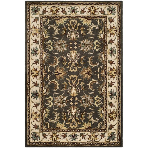 Safavieh Handmade Heritage Timeless Traditional Black/ Ivory Wool Rug (7'6 x 9'6)