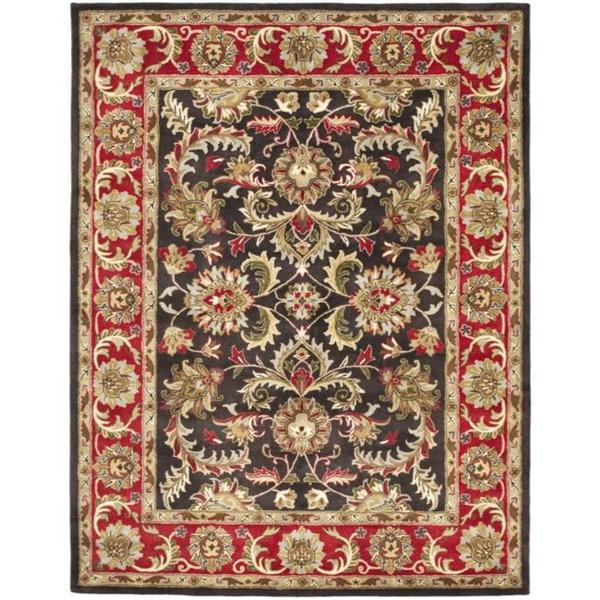 Safavieh Handmade Heritage Timeless Traditional Chocolate Brown Red Wool Rug 7 X27