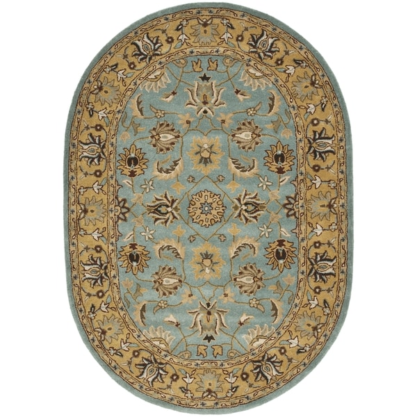 Safavieh Handmade Persian Legend Blue Gold Wool Area Rug: Shop Safavieh Handmade Heritage Timeless Traditional Blue
