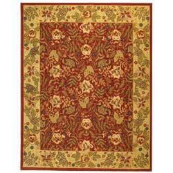 Safavieh Handmade Boitanical Red/ Ivory Wool Rug - 7'9 x 9'9 - Thumbnail 0