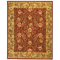"Safavieh Handmade Boitanical Red/ Ivory Wool Rug - 8'-9"" x 11'-9"""