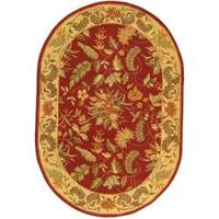 "Safavieh Handmade Paradise Red Wool Rug - 7'6"" x 9'6"" oval"