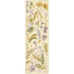 Safavieh Hand-hooked Chelsea Gardens Ivory/ Multi Wool Runner (2'6 x 8')