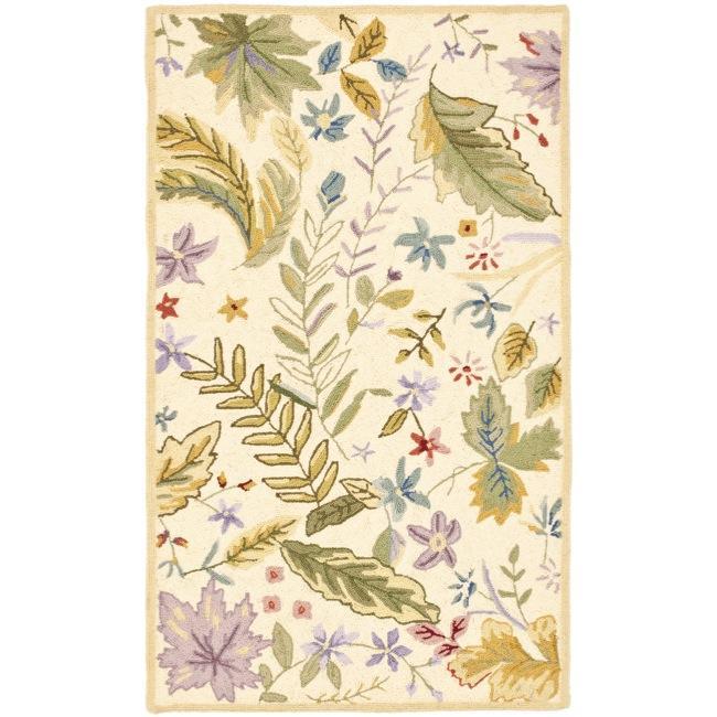 Safavieh Hand-hooked Chelsea Gardens Ivory/ Multi Wool Rug (2'9 x 4'9)