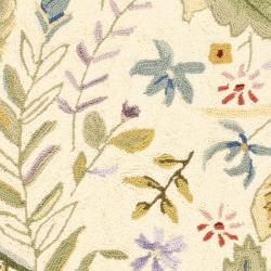 Safavieh Hand-hooked Chelsea Gardens Ivory/ Multi Wool Rug (2'9 x 4'9) - Thumbnail 2