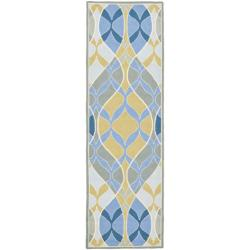 Safavieh Hand-hooked Chelsea Waves Multi Wool Runner (2'6 x 12')