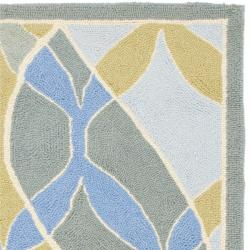 Safavieh Hand-hooked Chelsea Waves Multi Wool Rug (2'9 x 4'9) - Thumbnail 1