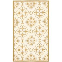 Safavieh Hand-hooked Chelsea Harmony Ivory Wool Rug (1'8 x 2'6)