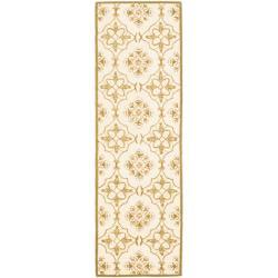 Safavieh Hand-hooked Chelsea Harmony Ivory Wool Runner (2'6 x 6')