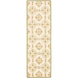Safavieh Hand-hooked Chelsea Harmony Ivory Wool Runner (2'6 x 8') - Thumbnail 0