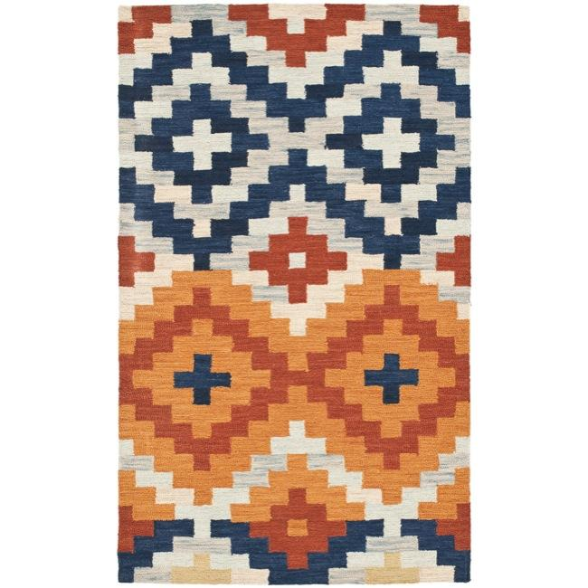 Safavieh Hand-hooked Chelsea Southwest Multicolor Wool Runner (2'6 x 4')