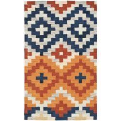 Safavieh Hand-hooked Chelsea Southwest Multicolor Wool Runner (2'6 x 4') - Thumbnail 0