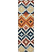 "Safavieh Hand-hooked Chelsea Southwest Multicolor Wool Runner - multi - 2'-6"" x 6'"