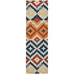Safavieh Hand-hooked Chelsea Southwest Multicolor Wool Runner (2'6 x 8')