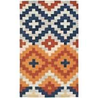 Safavieh Hand-hooked Chelsea Southwest Multicolor Wool Rug - 2'9 x 4'9
