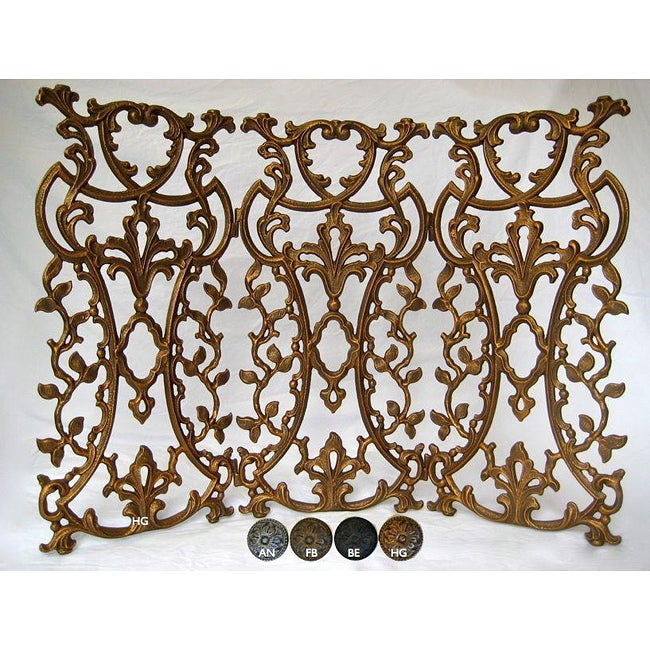Classic Provence Metal Fireplace and Decorative Screen (B...