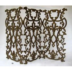 Classic Provence Metal Fireplace and Decorative Screen - Thumbnail 1