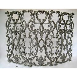 Classic Provence Metal Fireplace and Decorative Screen - Thumbnail 2