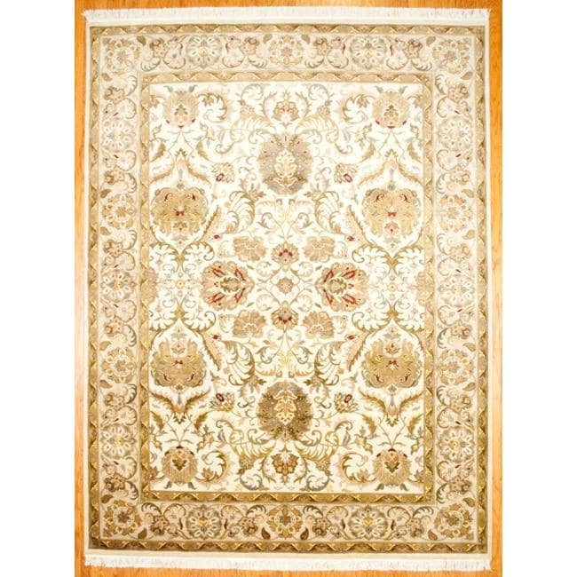 Herat Oriental Indo Hand-knotted Mahal Wool Rug (9' X 12