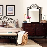 LeAnn Cherry Dresser and Mirror by iNSPIRE Q Classic