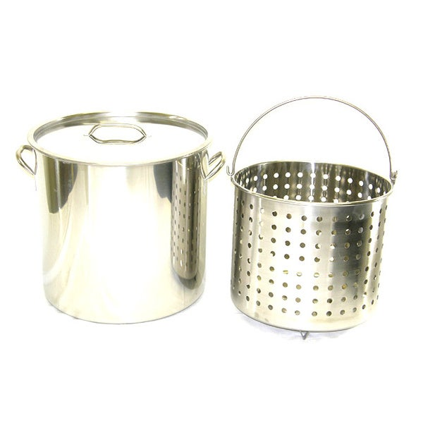 Stainless Steel 53-quart Stock Pot and Basket