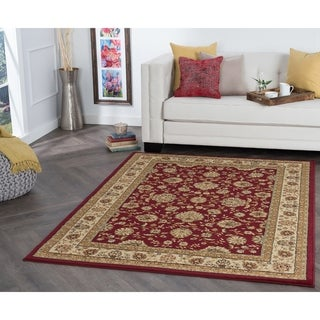 Alise Red Abstract Rug (5' x 7')